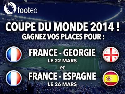 Gagnez des places pour Frace-Georgie et France-Espagne