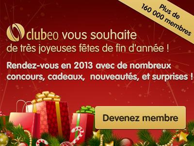 Clubeo vous souhaite une bonne année 2013
