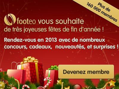 Footeo vous souhaite une bonne année 2013