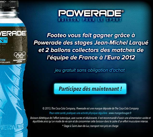Powerade vous fait gagner des stages Jean-Michel Larqué !