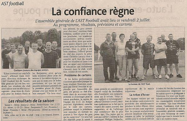 AG de l'AST Football 02 juillet 2010