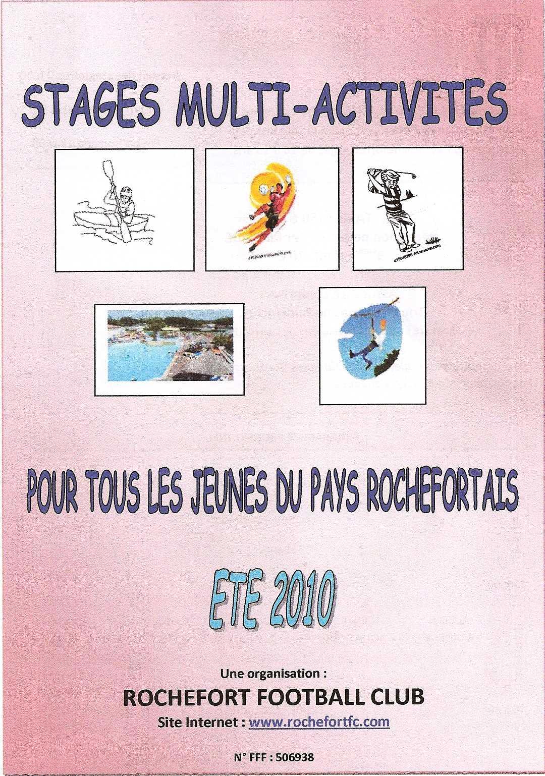 Actualite Stages Vacances Juillet Et Aout Foot Club Football