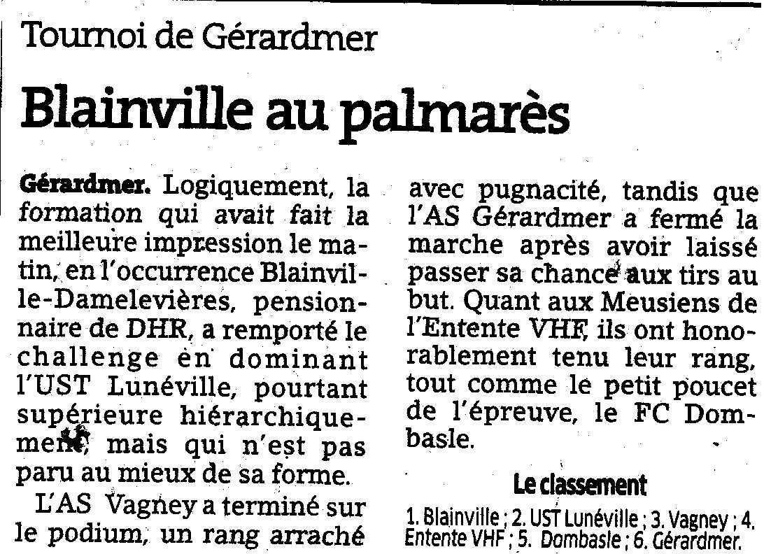 Tournoi de Gérardmer