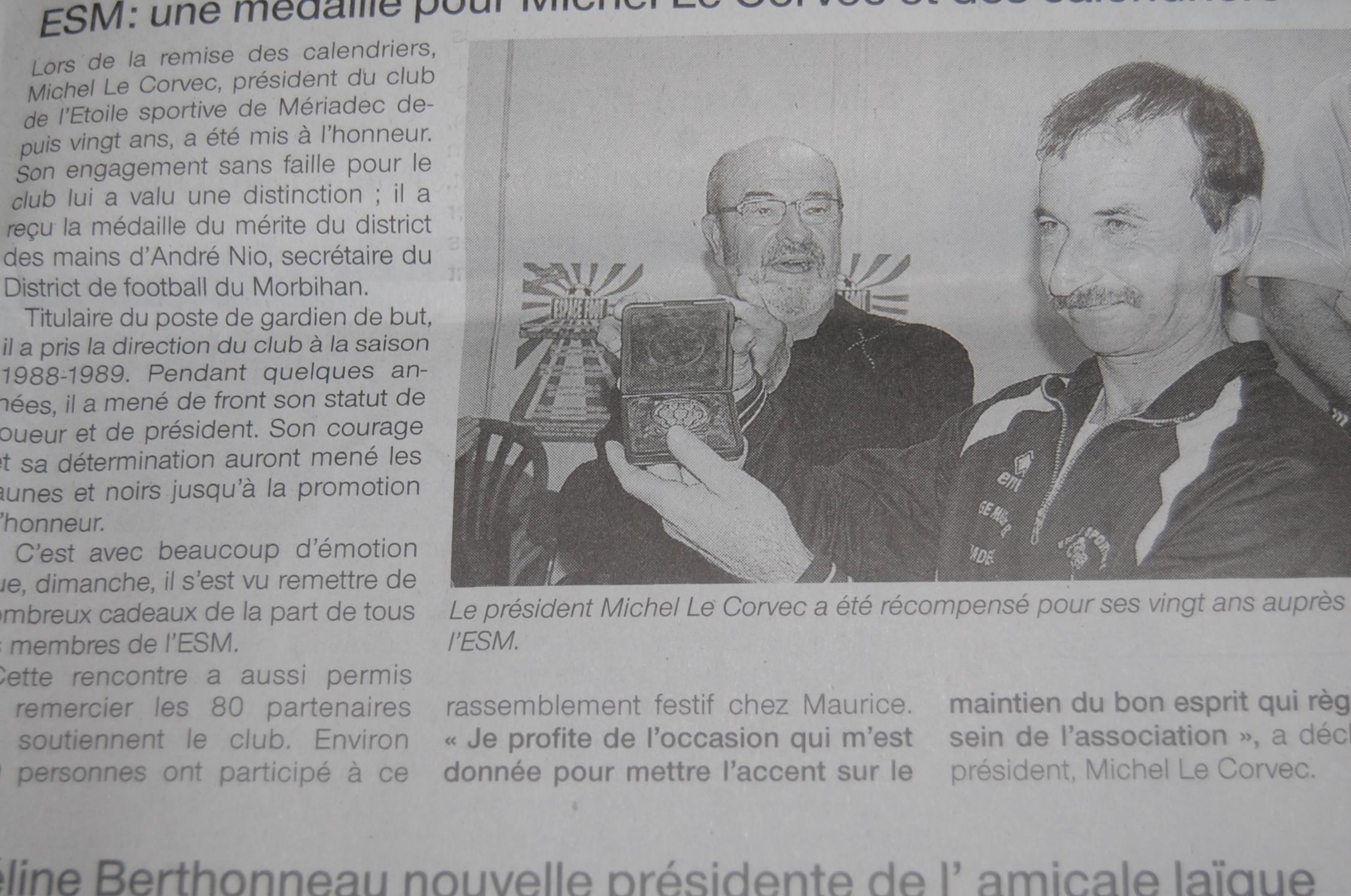 20 ans de presidence pour michel le corvec