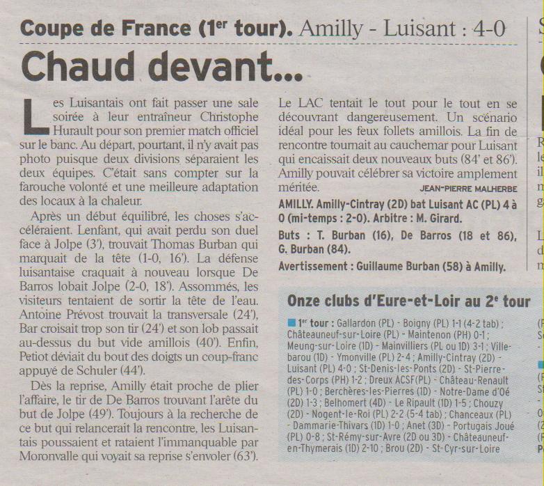 COUPE DE FRANCE 1ER TOUR