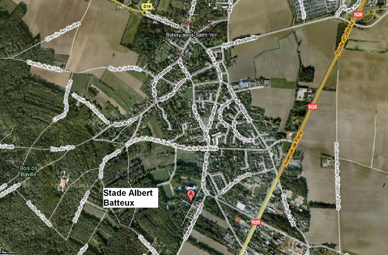 Plan d'accés Stade Albert Batteux