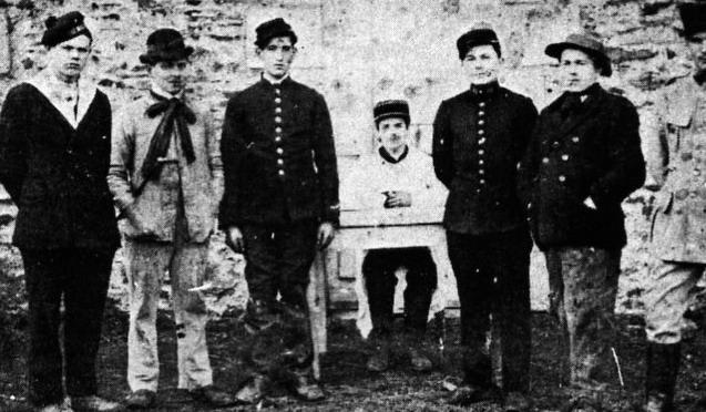 Le groupe de la fanfare en 1948