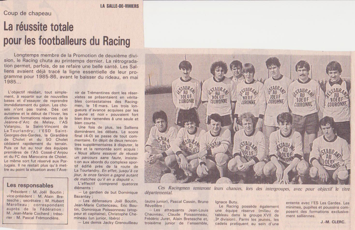 Ouest France, mai 1986
