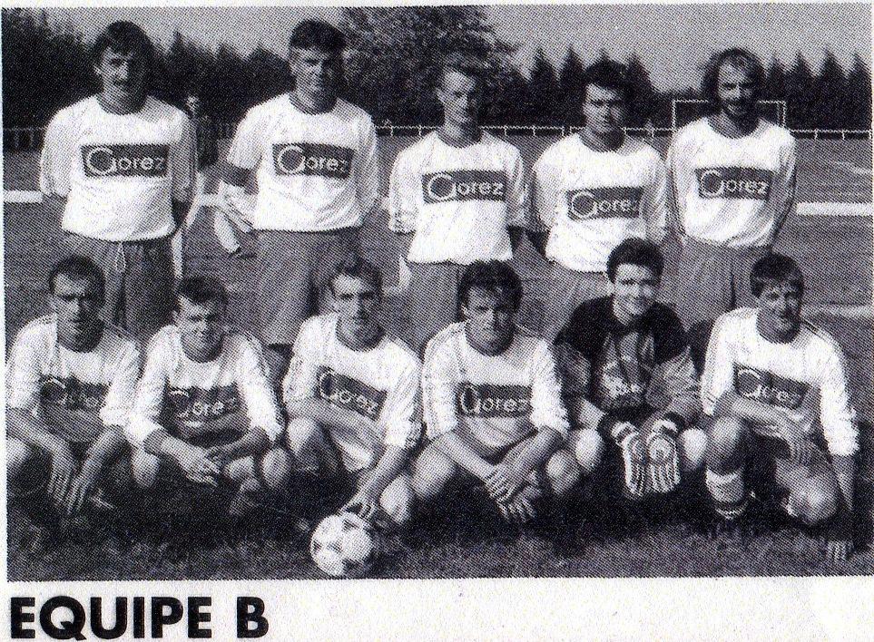 équipe  B saison 1990 1991