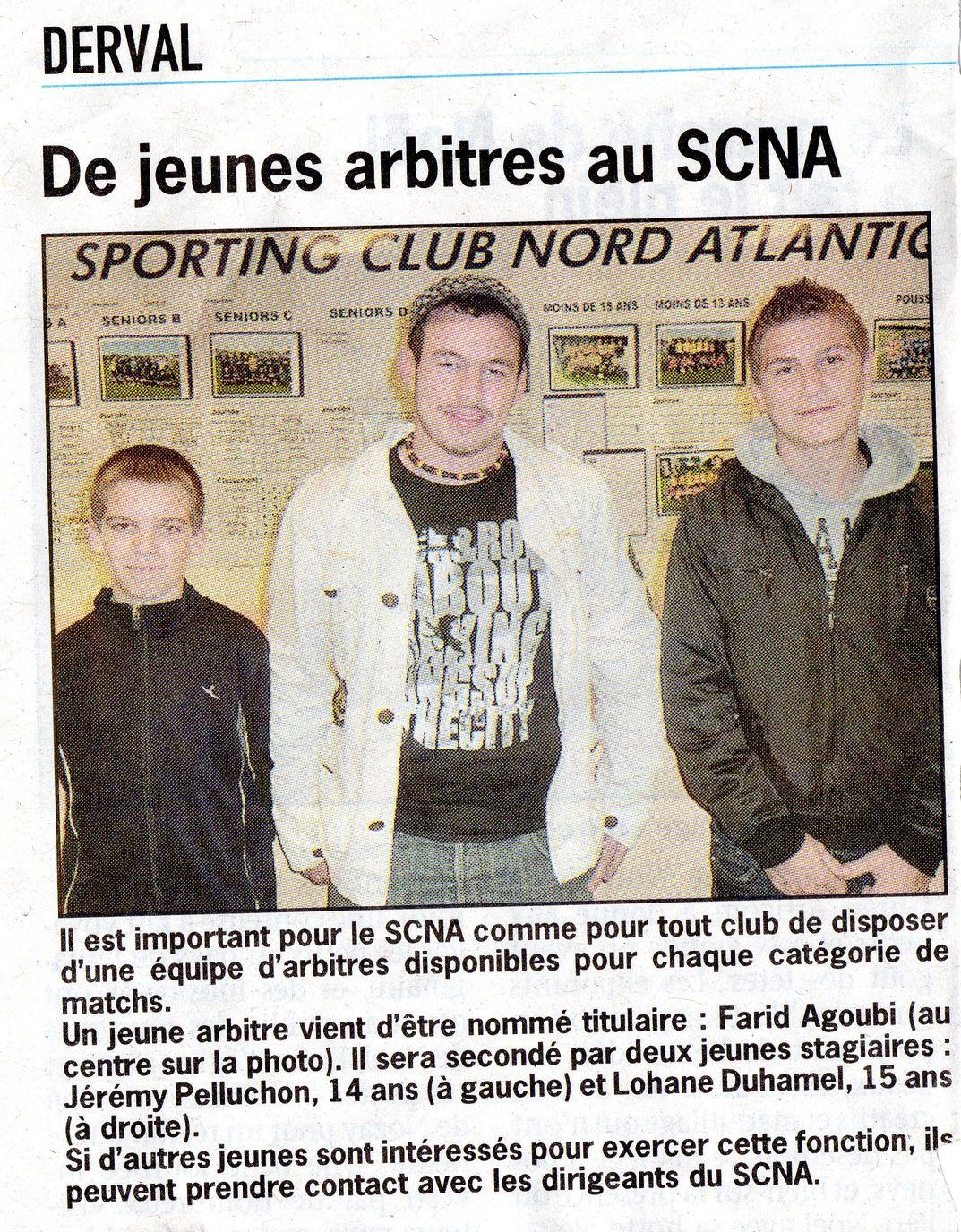 De jeunes arbitres au SCNA